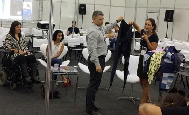 Daniela Auler e Dr. André Sugawara apresentam vestuário acessível