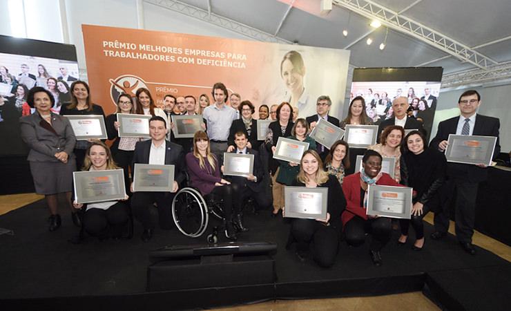 Vencedores do V Prêmio Melhores Empresas para Trabalhadores com Deficiência