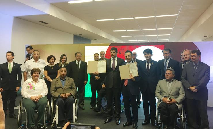 Em 26 de julho, foi assinado o termo de parceria entre o Comitê Paralímpico Brasileiro e a cidade de Hamamatsu, localizada no Japão