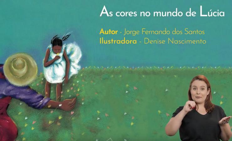 Acesso à página com o vídeo As cores no mundo de Lúcia, do projeto Diversos Livros Acessíveis e Inclusivos