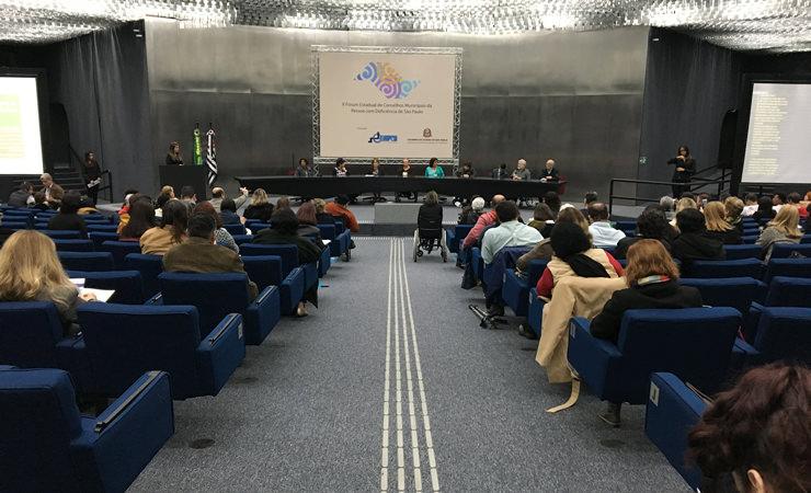 Durante todo o dia 03 de agosto, a Secretaria de Estado dos Direitos da Pessoa com Deficiência de São Paulo recebeu o II Fórum Estadual de Conselhos Municipais da Pessoa com Deficiência de São Paulo