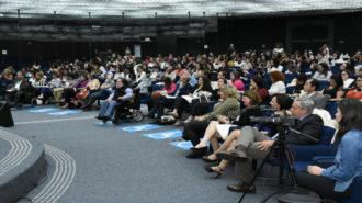 Foto do auditório da Secretaria.