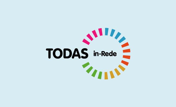 Imagem do logo do Programa todas in-Rede em fundo azul